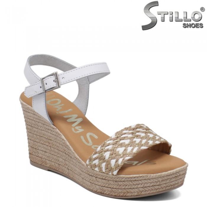 Sandale dama model spaniol cu platforma inalta - 35001