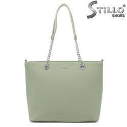 Geanta dama de culoare verde model Firenze - 35008