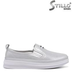 Pantofi dama de primavara de culoare argintiu - 35023