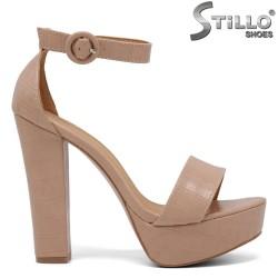 Sandale dama cu toc si cu platforma si cu stampa croco - 35044