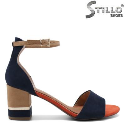 Sandale dama elegante model MARCO TOZZI de culoare albastru,maron si portocaliu - 35053