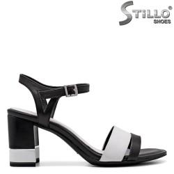 Sandale dama model Tamaris din piele naturala de culoare alb si negru - 35061