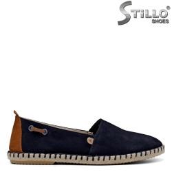 Espadrile tip spaniol de culoare albastru inchis - 35071