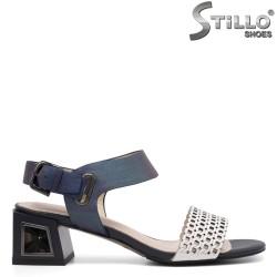 Sandale dama multicolor cu toc mijlociu - 35079