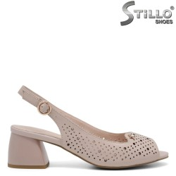 Sandale dama cu toc mijlociu cu stelute - 35081