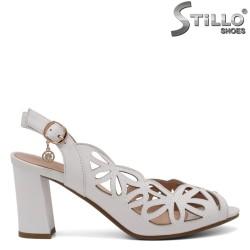 МARIMI  MICI 33,34,35 Sandale dama de culoare alb cu toc inalt - 35089