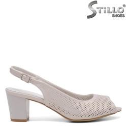 Sandale dama argintii cu perforatie - 35105