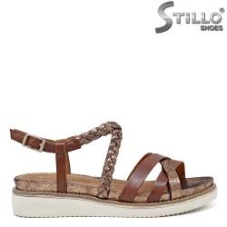 Sandale dama din piele naturala model Таmaris de culoare maron - 35108