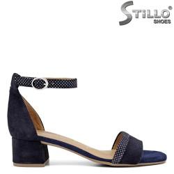 Sandale dama de culoare albastru cu puncte negre model Tamaris - 35113