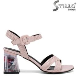Sandale dama cu toc colorat - 35114
