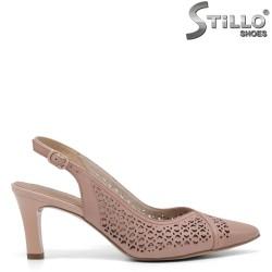 Pantofi dama nemtesti perforati cu partea din spate decupata model Tamaris - 35115