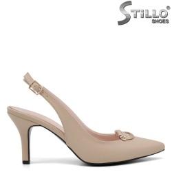Pantofi dama cu partea din spate decupata si cu toc inalt subtire - 35121