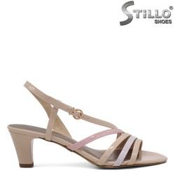 Sandale dama cu bentite de culoare  bej,gri si roz - 35132