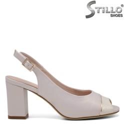 Sandale dama cu partea din fata si spate decupata - 33202