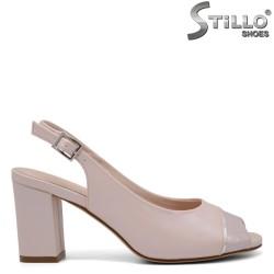 Sandale dama  de culoare roz pudra - 35144