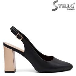 Pantofi dama cu toc inalt auriu - 35145