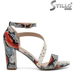 Sandale dama cu imprimanta tip sarpe - 35147