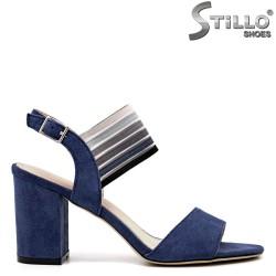 Sandale dama de culoare albastru cu toc inalt - 35150