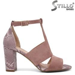 Sandale dama de culoare roz cu motive tip sarpe - 35152