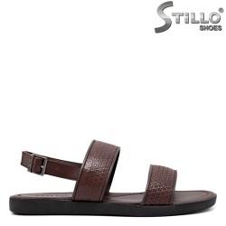 Sandale barbati de culoare maron din piele naturala - 35166