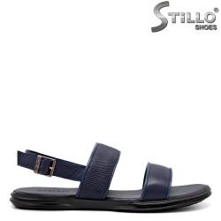 Sandale barbati de culoare albastru din piele naturala - 35167