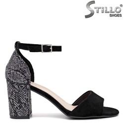 Sandale dama cu imprimanta tip sarpe la calcai- 35172
