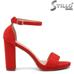 Sandale dama de culoare rosu cu partea din spate acoperita - 35179