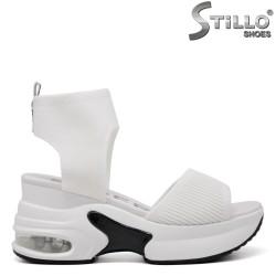 Sandale dama sport de culoare alb cu platforma - 35188