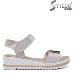 Sandale dama argintii cu platforma - 35191