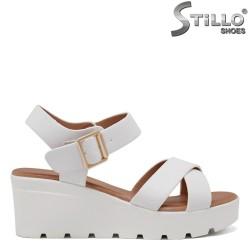 Sandale dama de culoare alb cu platforma  - 35193