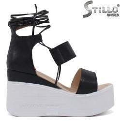 Sandale dama cu platforma si cu sireturi - 35223