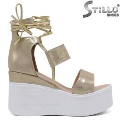 Sandale dama aurii cu platforma  - 35224