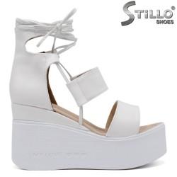 Sandale dama de culoare alb cu platforma  - 35225