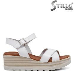 Sandale dama din piele naturala cu platforma - 35229