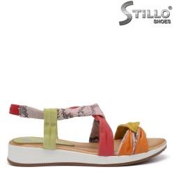 Sandale dama multicolor cu imprimanta tip sarpe - 35231