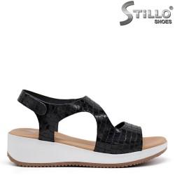 Sandale dama croco cu platforma  - 35235