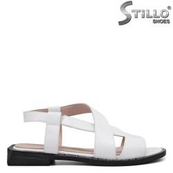 Sandale dama de culoare alb din piele naturala - 35243