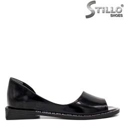 Pantofi dama decupati cu toc jos - 35244