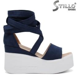 Sandale dama de culoare albastru si cu platforma  - 35245