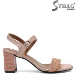 Sandale dama cu toc inalt de efect - 35256