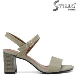 Sandale dama de culoare verde cu toc  - 35257