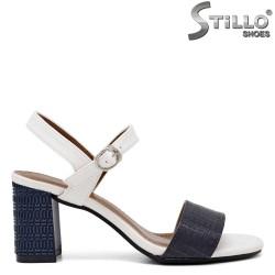 Sandale dama de culoare alb si albastru - 35260