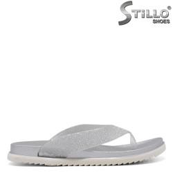 Flip-flops-uri de culoare argintii pentru plajă - 35298