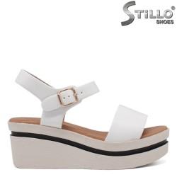 Sandale dama de culoare alb cu platforma  - 35304