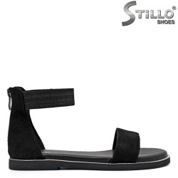 Sandale dama din velur cu talpa dreapta - 35305