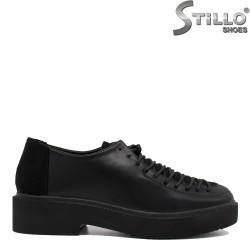 Pantofi dama cu sireturi si cu toc jos -35402