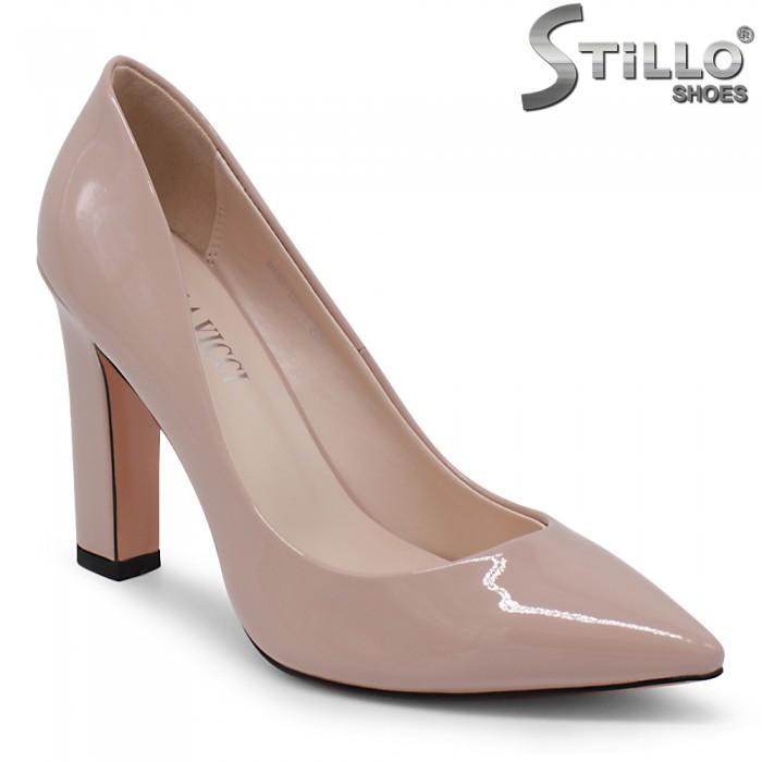 Pantofi dama eleganti din lac si cu toc inalt - 35412