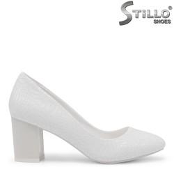 Pantofi dama pentru mireasa  cu toc mijlociu - 35421