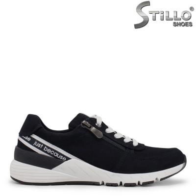 Pantofi dama sport de culoare albastru si cu imprimanta scrisa – 35429