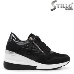 Pantofi dama sport cu platforma fermoar si cu sireturi – 35456